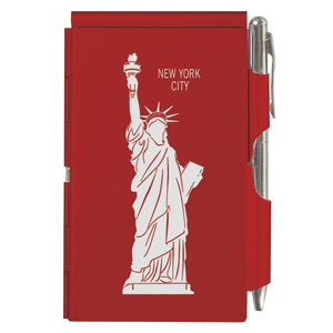 Flip Note - NY - Red Statue of Liberty