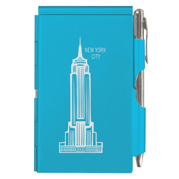 Flip Note - NY - Bright Blue Empire State Building