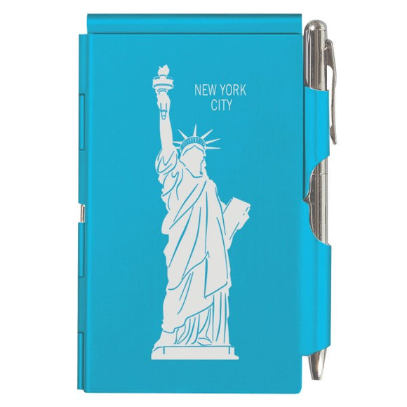Flip Note - NY - Bright Blue Statue of Liberty