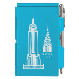 Flip Note - NY - Bright Blue Empire & Chrysler