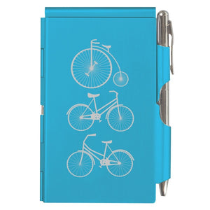 Flip Note - Bright Blue Bicycles