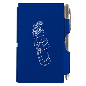 Flip Note - Royal Blue Golf Bag