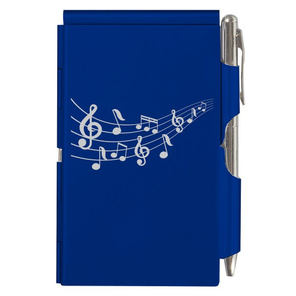 Flip Note - Royal Blue Music Notes