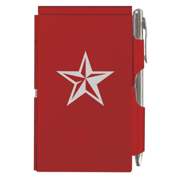 Flip Note - Red Texas Star