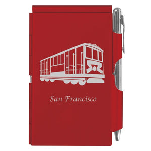 Flip Note - Red - Cable Car