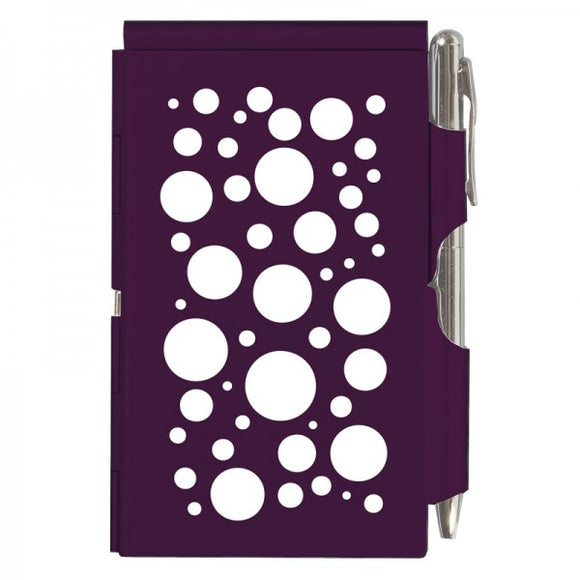 Flip Note - Polka Dots Purple