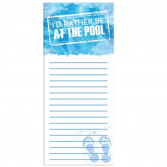 4x9 Note Pad - Pool