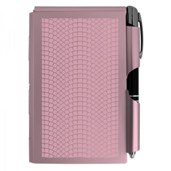 Aluminum Notepad+ LED Pen - Rose