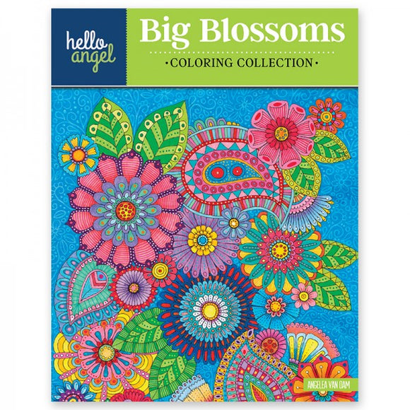 Coloring Book - Hello Angel - Big Blossoms