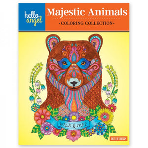 Coloring Book - Hello Angel - Majestic Animals