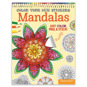 Color Your Own Stickers - Mandalas