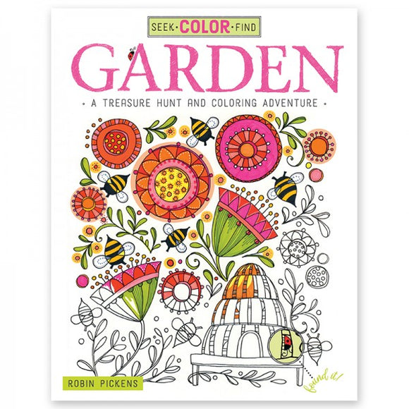 Coloring Book - Seek, Color, Find - Garden