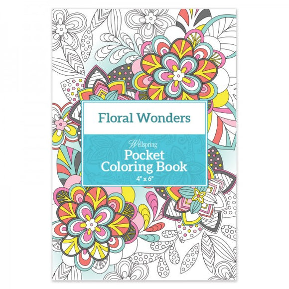 Pocket Coloring Book - Floral Wonders