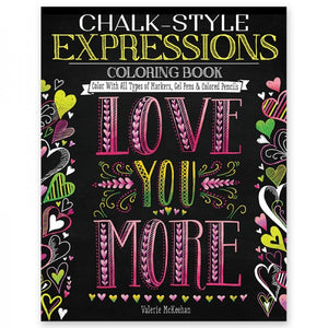 Coloring Book - Chalk Style - Expressions