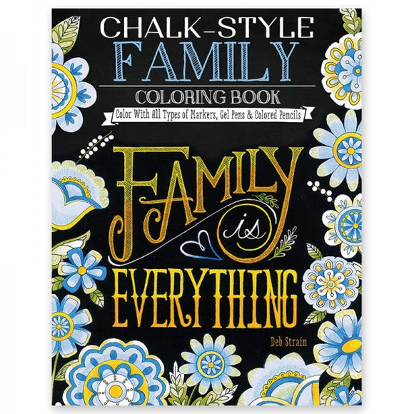 Coloring Book - Chalk Style - Family