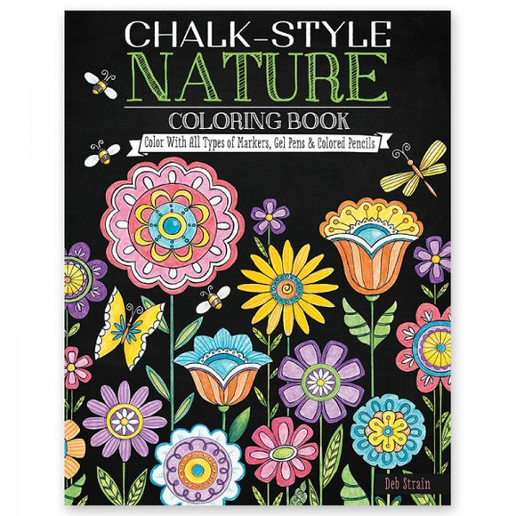 Coloring Book - Chalk Style - Nature