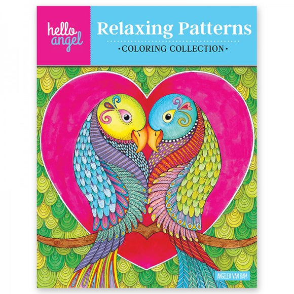 Coloring Book - Hello Angel - Relaxing Patterns