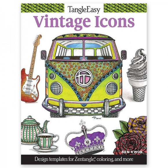 Coloring Book - TangleEasy - Vintage Icons