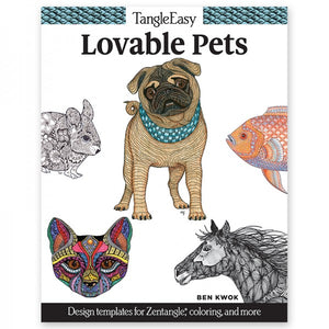 Coloring Book - TangleEasy - Lovable Pets