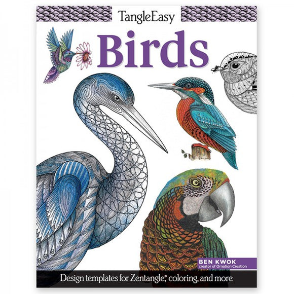 Coloring Book - TangleEasy - Birds