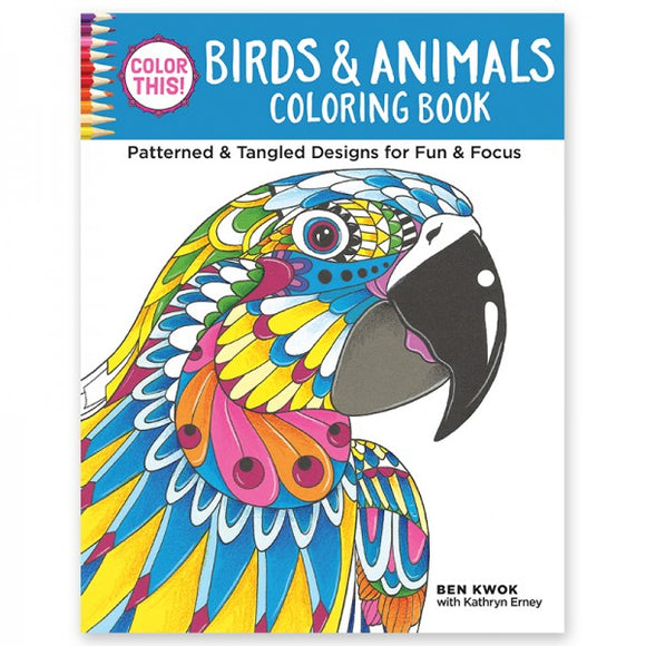 Coloring Book - Color This! Birds & Animals