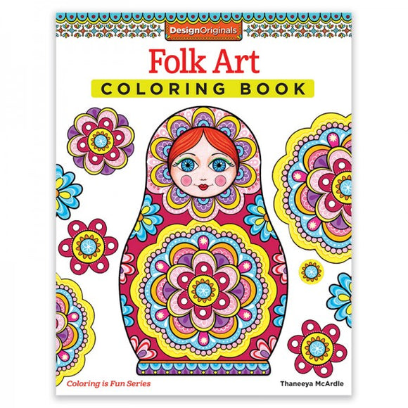 Coloring Book - Folk Art