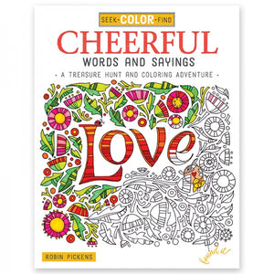 Coloring Book - Seek, Color, Find - Cheerful Words