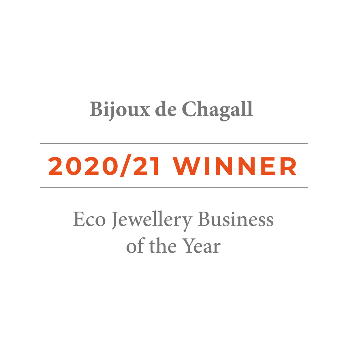 Bijoux de Chagall - Eco Jewellery Award Winner