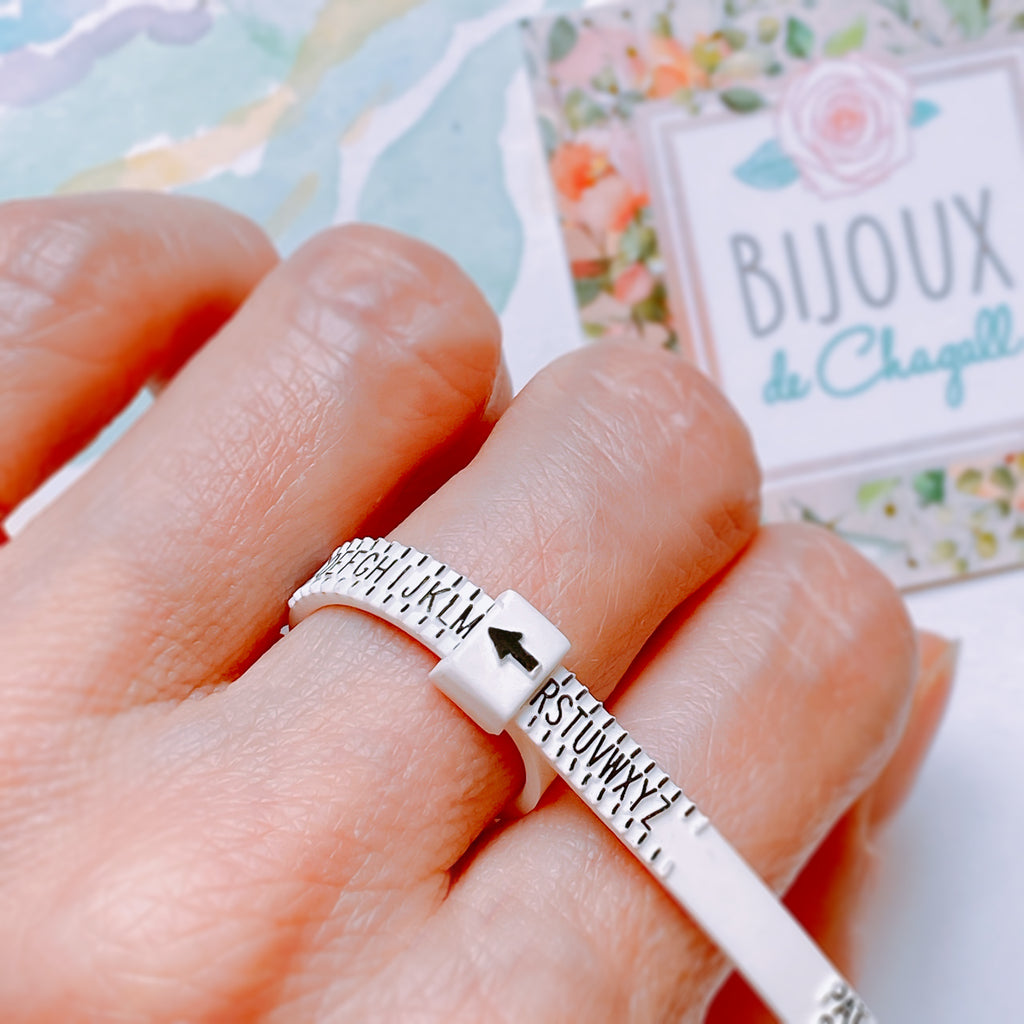 UK ring sizer, Engagement and Wedding ring Adjustable Multi-sizer A to Z+9 - Bijoux de Chagall