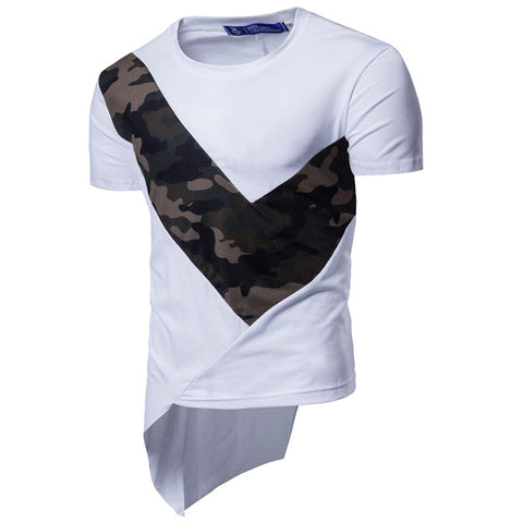 Tricou barbatesc, casual,model asimetric