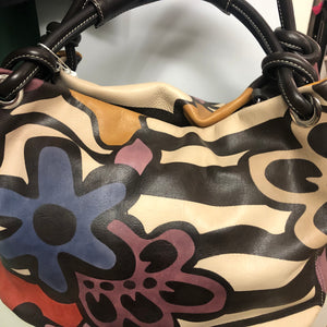 Baideria Hand Painted Leather Handbag NOW 50% REDUCED