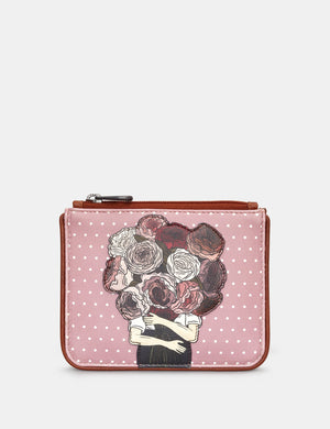Yoshi Peonies Leather Coin Purse