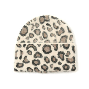 Brown Leopard Pull on Hat NOW HALF PRICE