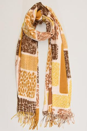 Thick Mustard and Cream Scarf NOW HALF PRICE