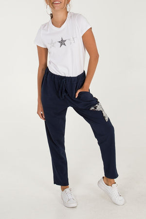 Sweatpants with Sequin Star NOW 50% REDUCED