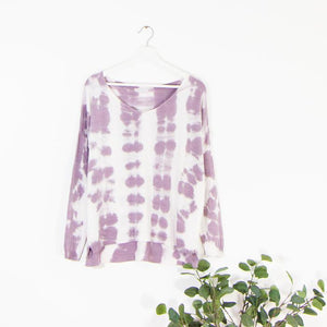 Lilac Cotton Mix Shaded   Sweater