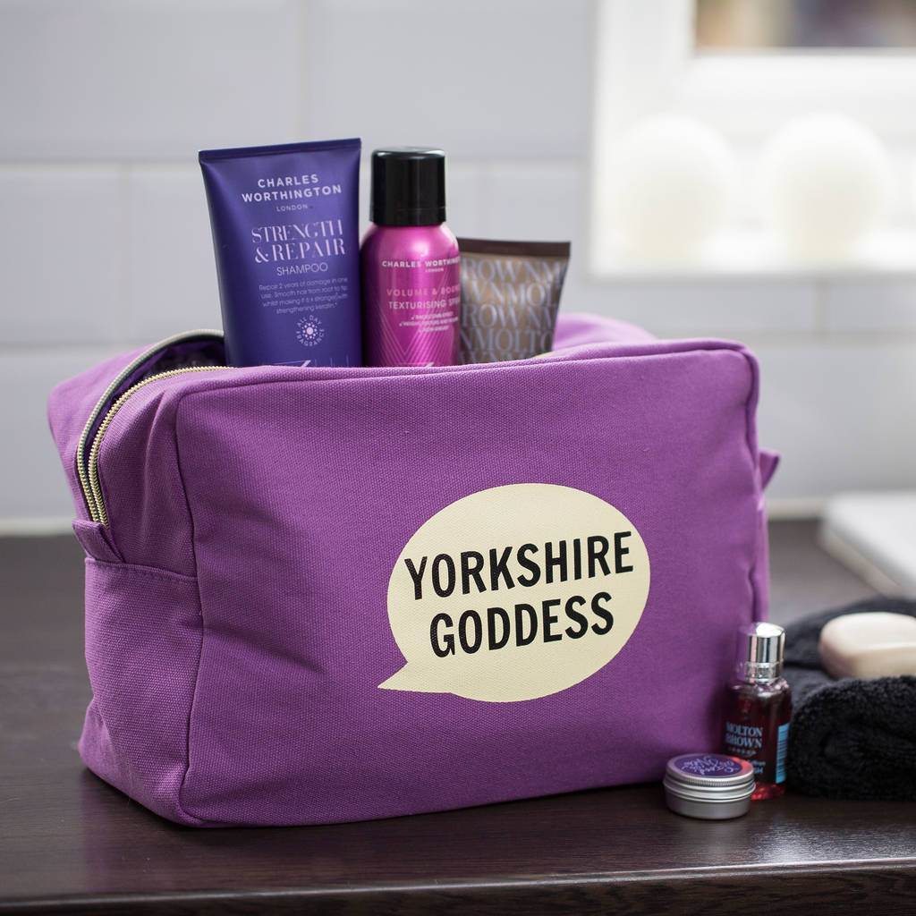 Yorkshire Goddess Washbag