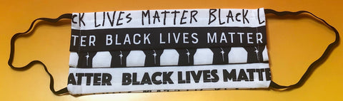 """Black Lives Matter - B/W"" Mask with enclosed Filter mesh"