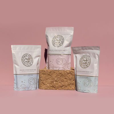The Maternity Market postpartum products lactation cookie packet mix from Made to Milk