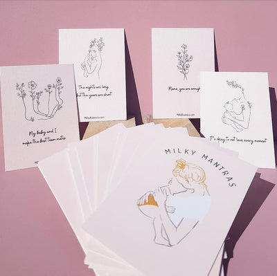 Milky Business - breastfeeding milky mantra affirmation cards