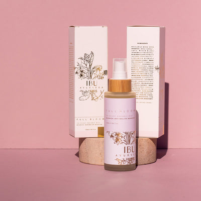 The Maternity Market pregnancy products Full Bloom tridoshic ayurvedic labour radiance mist by Ibu Ayurveda