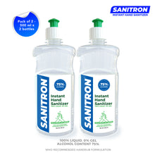 Load image into Gallery viewer, Sanitron Hand Sanitizer - 500 ml  (Pack of 2 - 500ml *2)