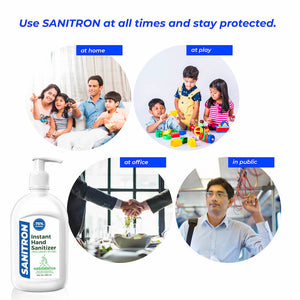 Sanitron Hand Sanitizer - 250 ml (Pack of 4 - 250ml *4)