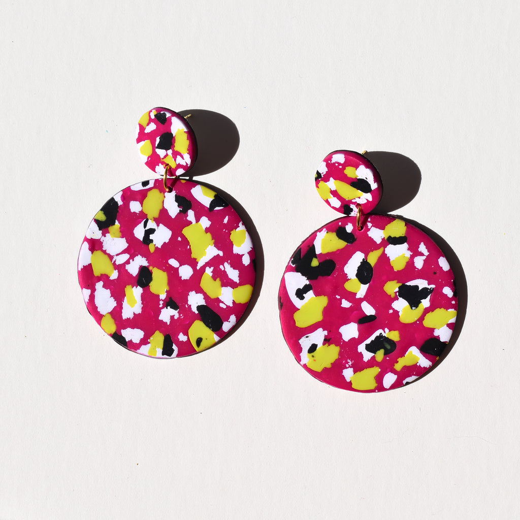 Full Moon Earrings; 90s Retro