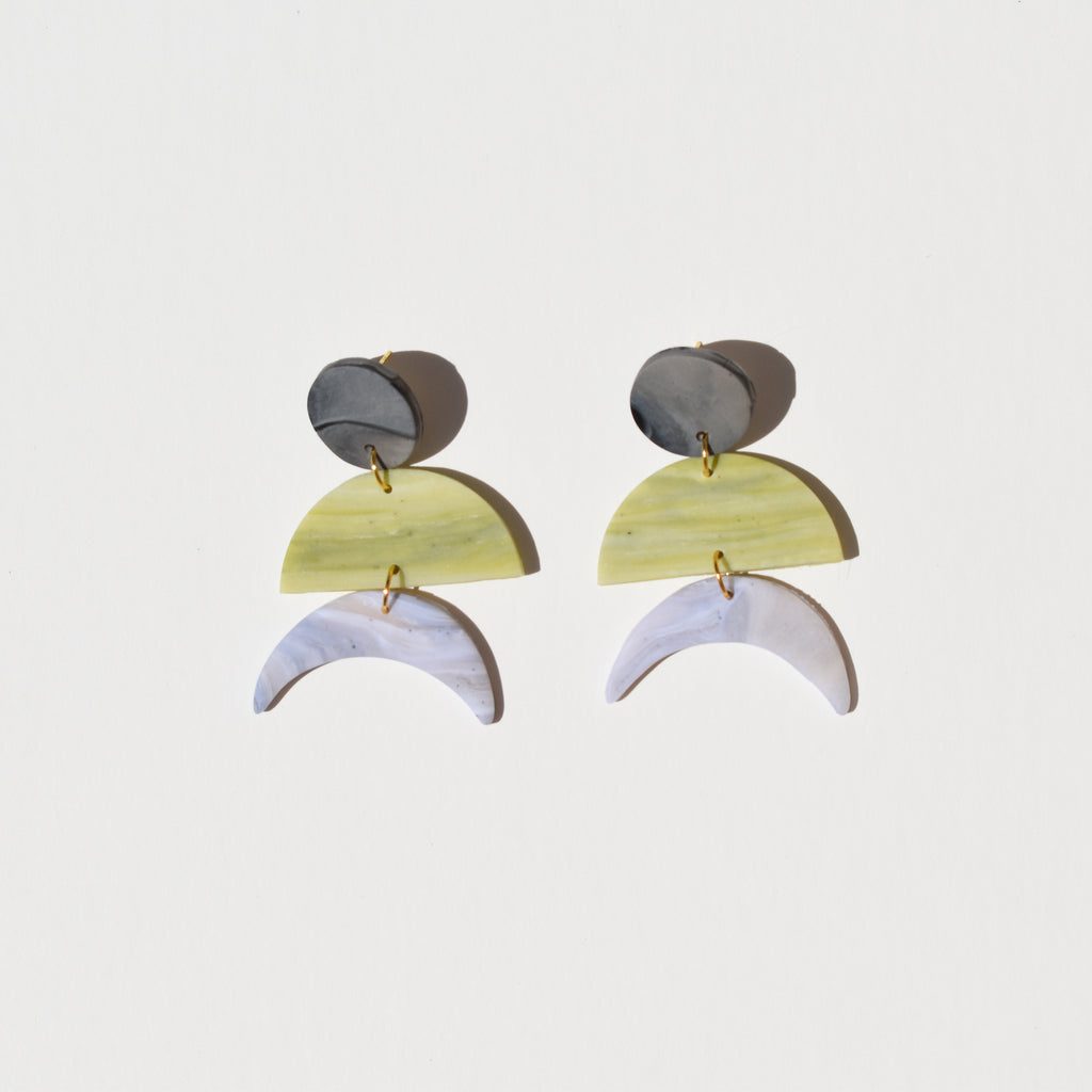 Maggie Earrings; Grass is Greener
