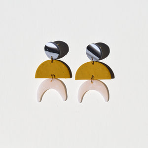 Maggie Earrings; Sexy Mustard