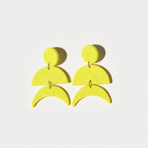 Maggie Earrings; Neon Yellow