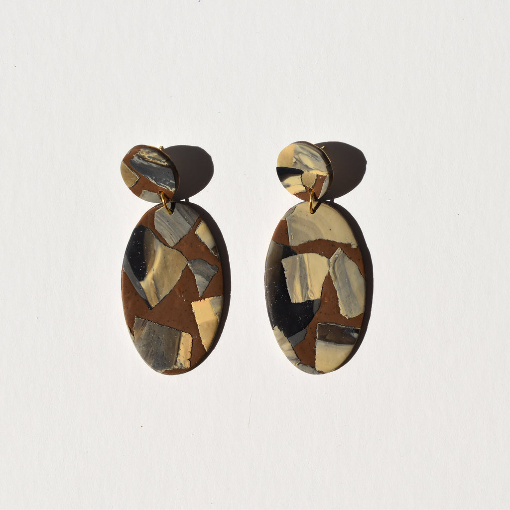 Classy Oval Earrings; Brown is Beautiful Always