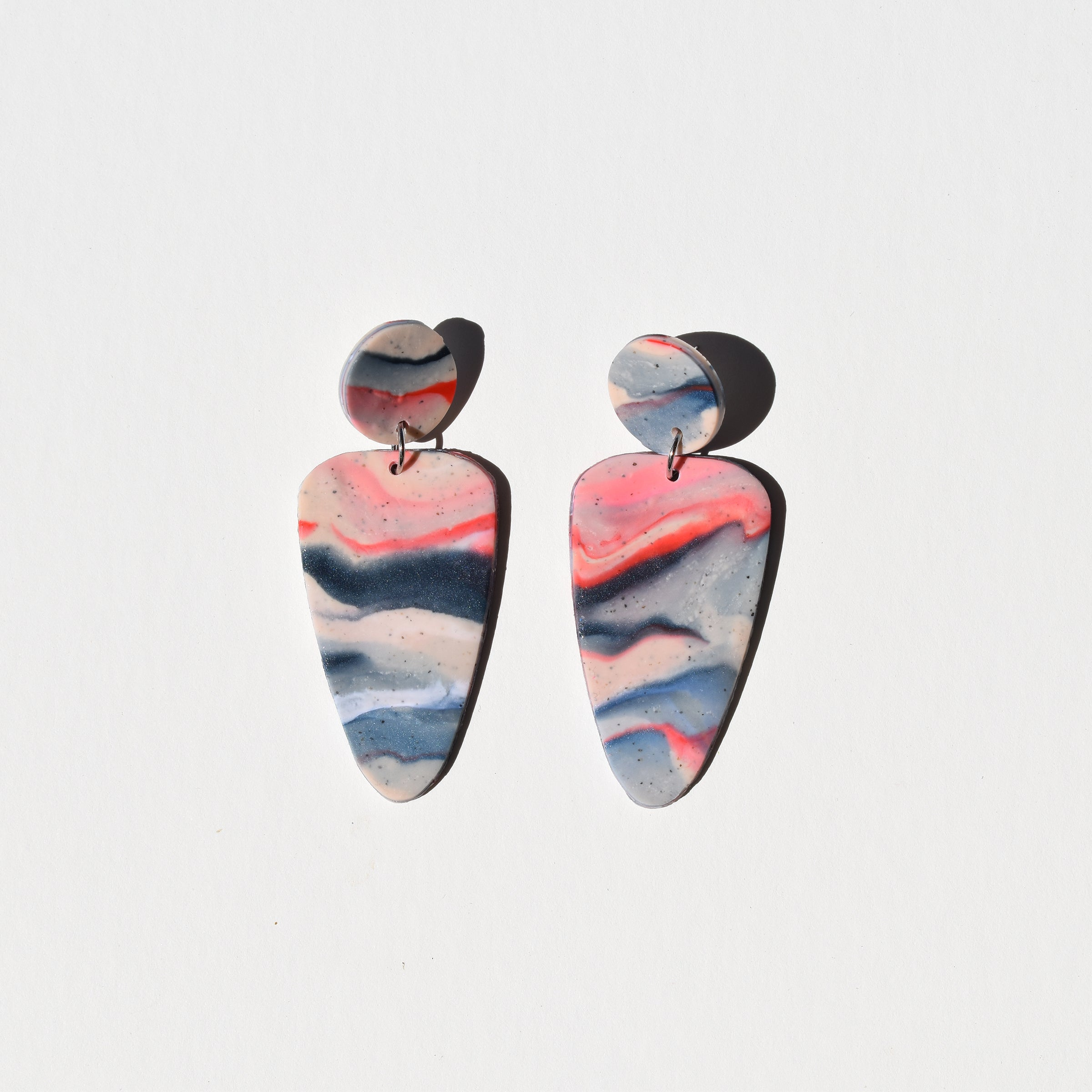 Molly Earrings; Melted Icee