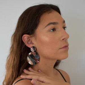 Full Moon Earrings; Brown is Beautiful Always